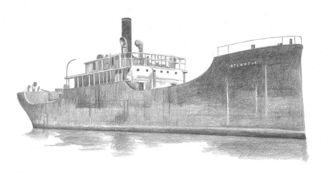 Concrete ship Atlantus in 1926